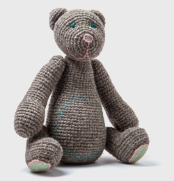 A grey bear with emerald green eyes(order time 1 Month)