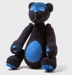 The dark blue bear of the secrets  with the touch of summer nights(order time 1 Month)